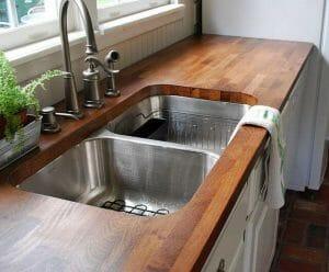 wooden worktops kitchen cabinet